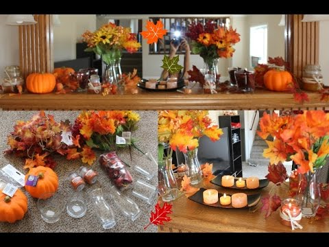 Fall series diy fall decorations ideas dollar tree haul for Homemade fall decorations for home