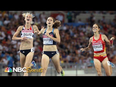 Jenny Simpson avoids crash, wins world title in classic 1500 finish  NBC Sports