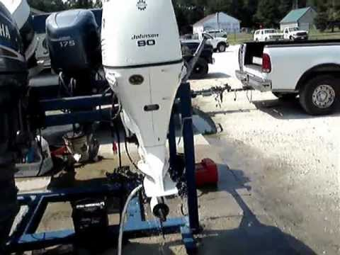 Force Outboard Motor Wiring Diagram 2004 Johnson 90 Hp Outboard Youtube
