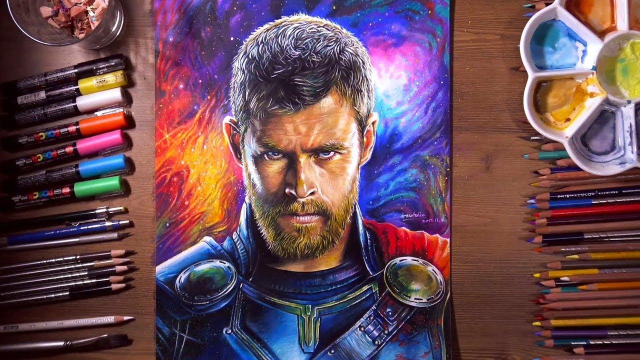 Drawing Thor Thor Ragnarok Chris Hemsworth Drawholic