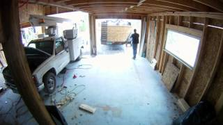 Free Insulation And Bay Windows - 62 - My Diy Garage Build Hd Time Lapse