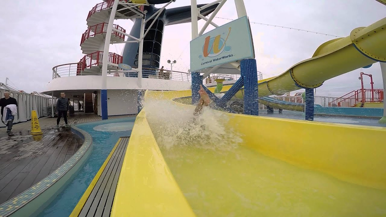 Carnival Inspiration Cruise Ship Water Slide Youtube