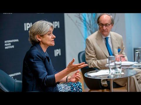 UN Secretary-General Candidate Irina Bokova Speaks at IPI