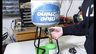 Refill 1lb propane taฑks the easy, safe and legal way!!