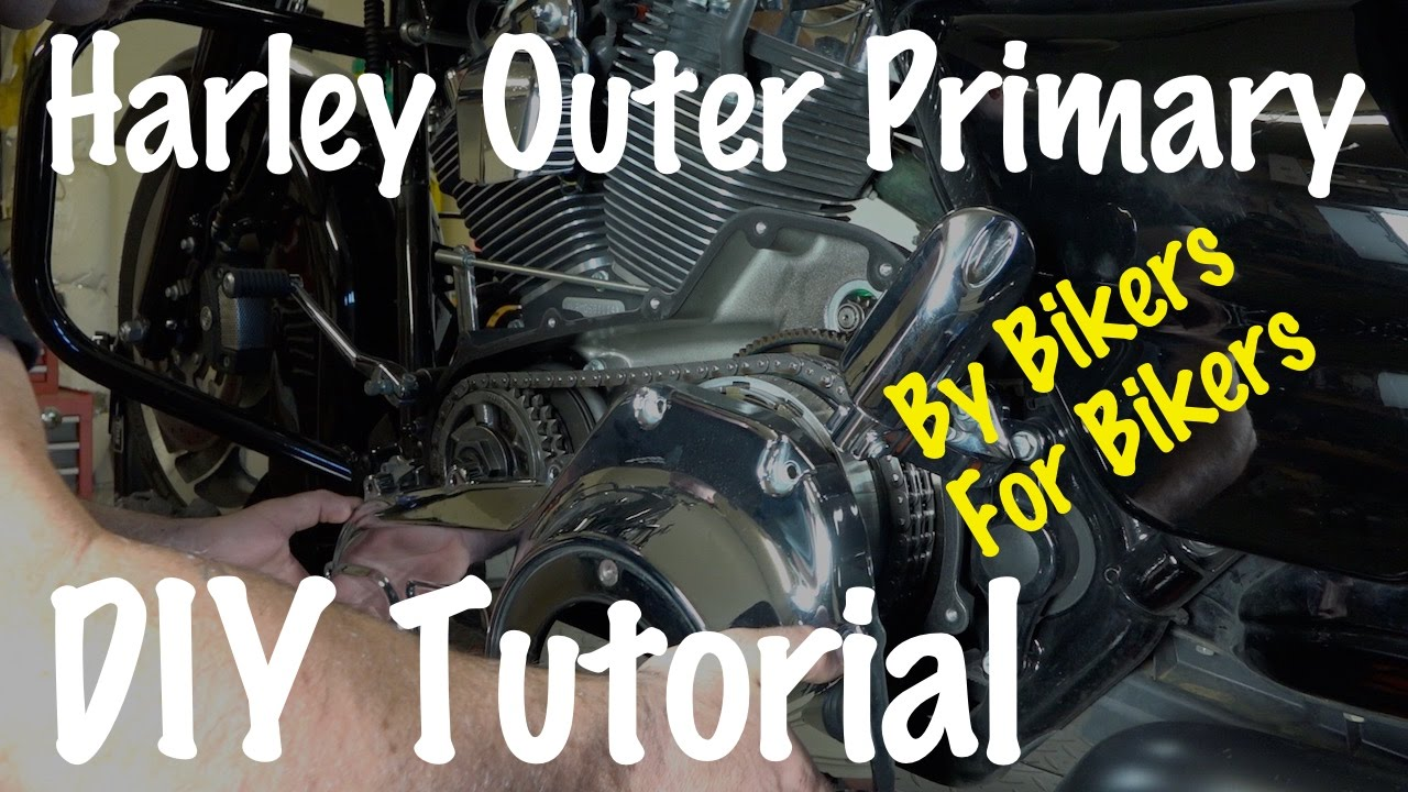 small resolution of install or remove outer primary cover on harley davidson diy biker podcast youtube