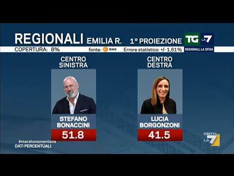 Emilia-Romagna, prima proiezione: