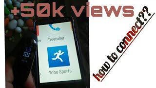 How to connect m3 band to YOHO SPORTS