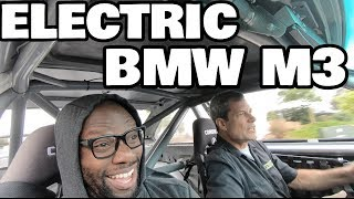 Tesla powered BMW M3 ride along