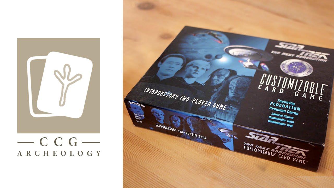 kaartspellen Star Trek CCG Introductory 2 Player Game Commander Data Losse kaarten spellen