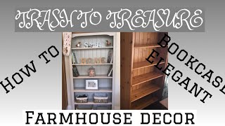BEFORE AND AFTER HOW TO UPCYCLE A LARGE BOOKCASE
