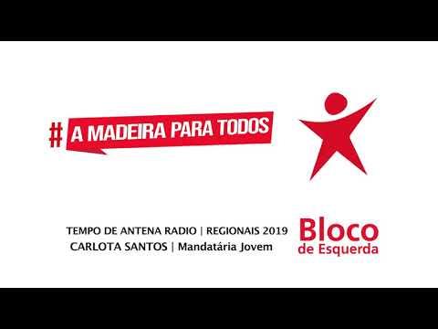 Tempo de Antena Rádio | Bloco de Esquerda Madeira | ER2019 | Carlota Santos