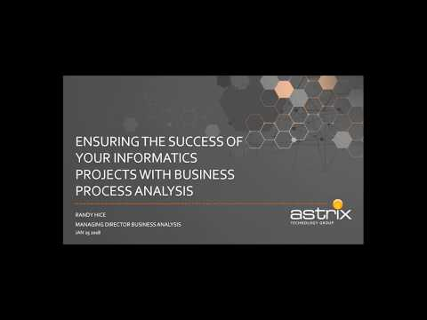 LIMS Webinar - Ensuring the Success of Your Informatics Projects with Business Process Analysis