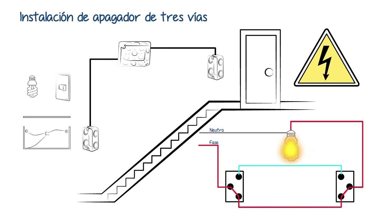 como conectar un apagador de 3 vias