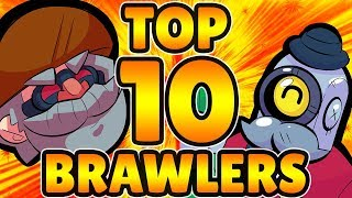 Top 10 Brawlers for G.G. Corral (Heist Offense) - Brawl Stars Heist Top Ten Countdown