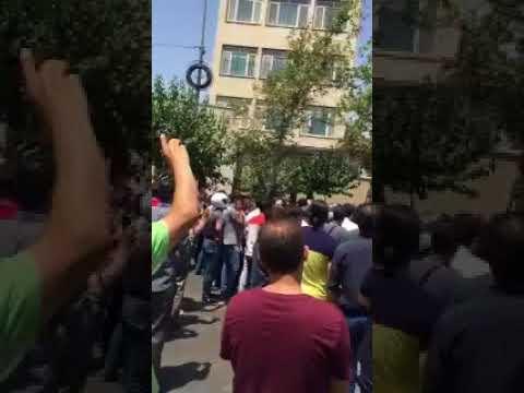 "TEHRAN, Iran, June 25, 2018. People chant ""We do not want mullahs rule"""