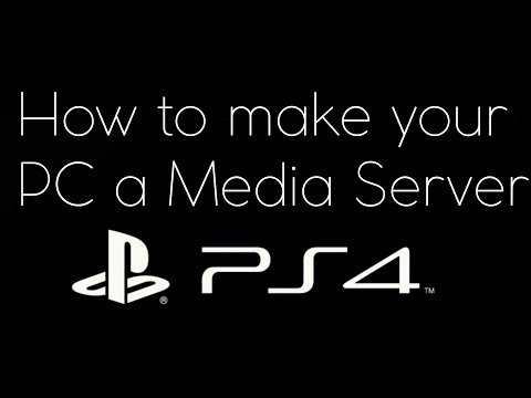 media player ps4 how to connect pc