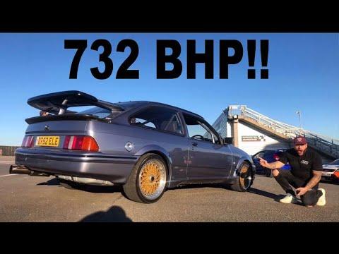 BRUTAL 732 BHP FORD SIERRA COSWORTH RIDE ALONG!!