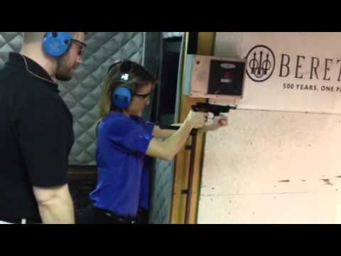 Emily Miller shooting the Beretta 93R