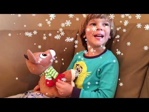 Light-Up Rudolph Plush Music & Lights Kids Preferred Kids Adventures with Sweetie Fella Aleks