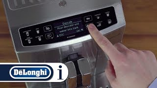 How to descale your De'Longhi PrimaDonna S Evo ECAM 510.55.M bean to cup coffee machine.
