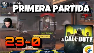 COD MOBILE PRIMERA PARTIDA! Call of Duty LEGEND OF WAR GAMEPLAY *RECORD K.D.* INCREÍBLE