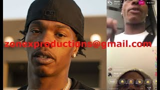 Atlanta Rapper Lil Baby GOES live wit Marlo & crips about SNITCHIN THEY threaten him!MUST WACTH!