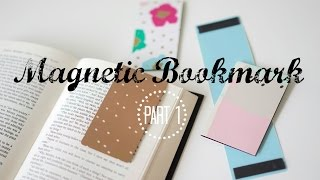 DIY Organization | Make Magnetic Bookmarks Out of File Folders