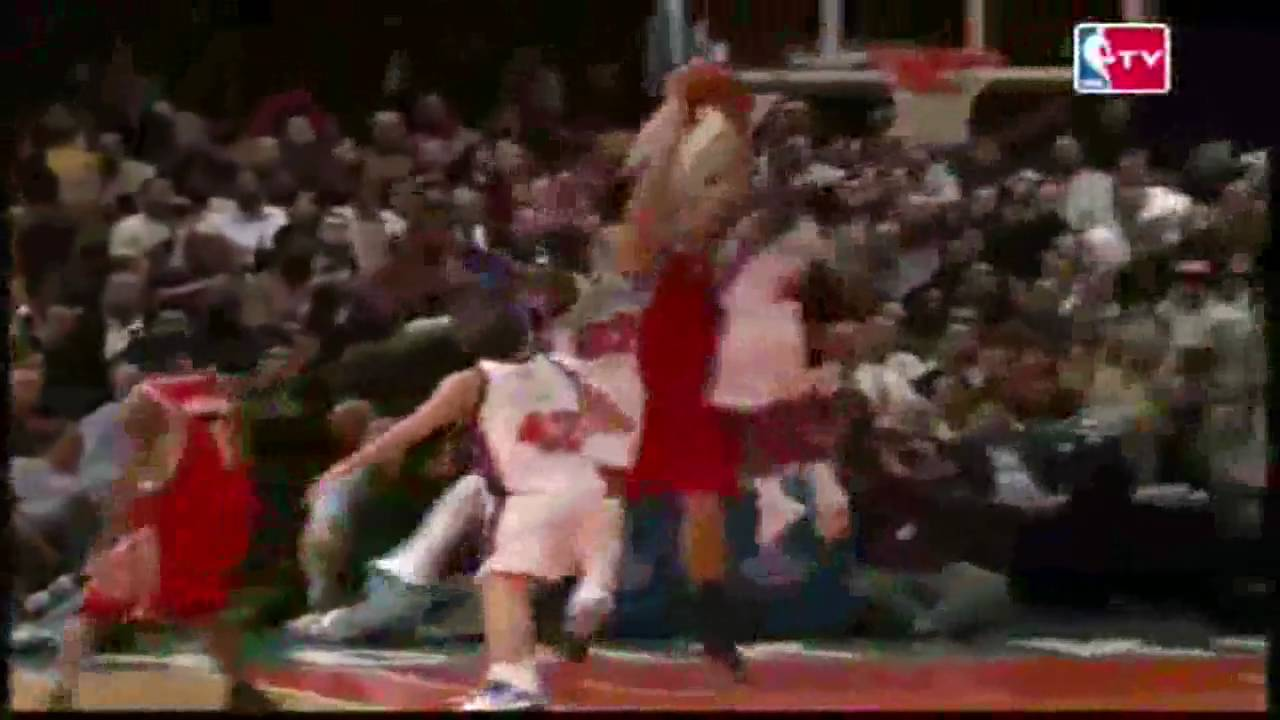Viewing Gallery For - Nate Robinson Blocks Yao MingYao Ming And Nate Robinson