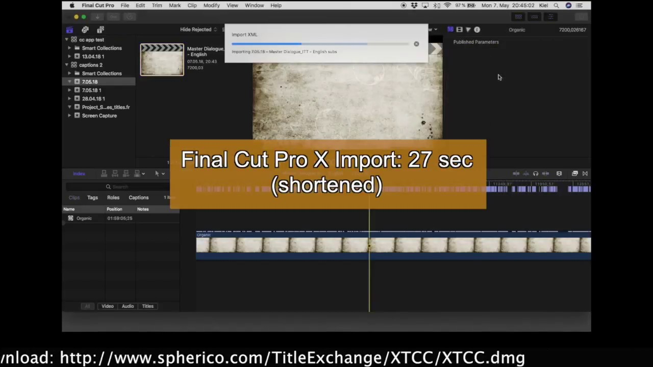 X-Title Caption Converter for FCPX - convert captions to titles