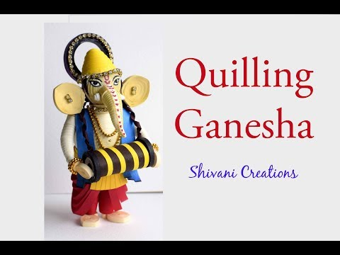 Quilled Ganesha Idol/ How to make Paper Quilling Ganesha/ Part One
