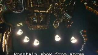 Inside the Burj Khalifa - Fountain show from above