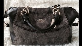 Coach Col Exotic Satchel Review & What Fits In It