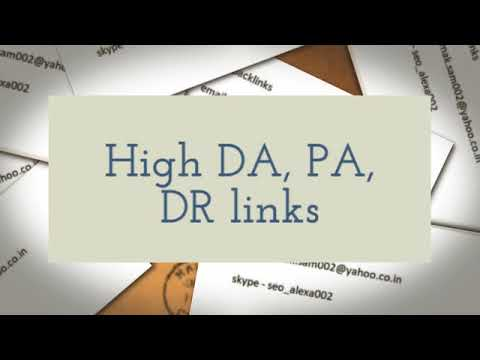 Buy backlinks High DA , High PR, Authority Sites High Metrics