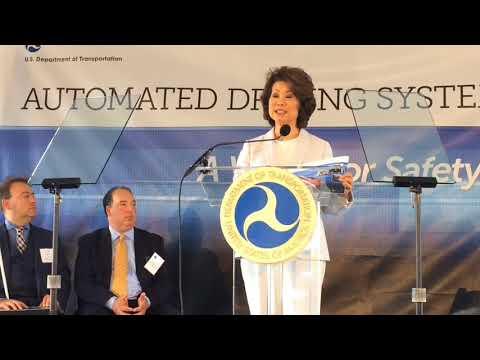 Hear remarks from U.S. Transportation Secretary Elaine Chao from Ann Arbor visit