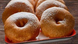 Как приготовить пончики из детства(Вкусные и ароматные домашние пончики из детства, советский рецепт из дрожжевого теста, сахарной пудры и..., 2015-12-15T16:00:03.000Z)