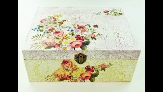 How to make a decoupage box - Painted box - Decoupage wooden box - Decoupage for beginners