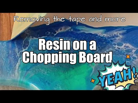 351 - Resin Art / Chopping Board / Following LIVE video 350