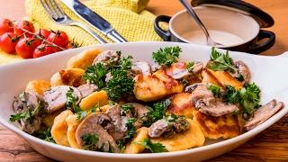 Картофельные ньокки с грибами