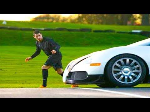 شاهد سباق كريستيانو رونالدو ضد أسرع سيارة في العالم ◄ من الأسرع .....!!