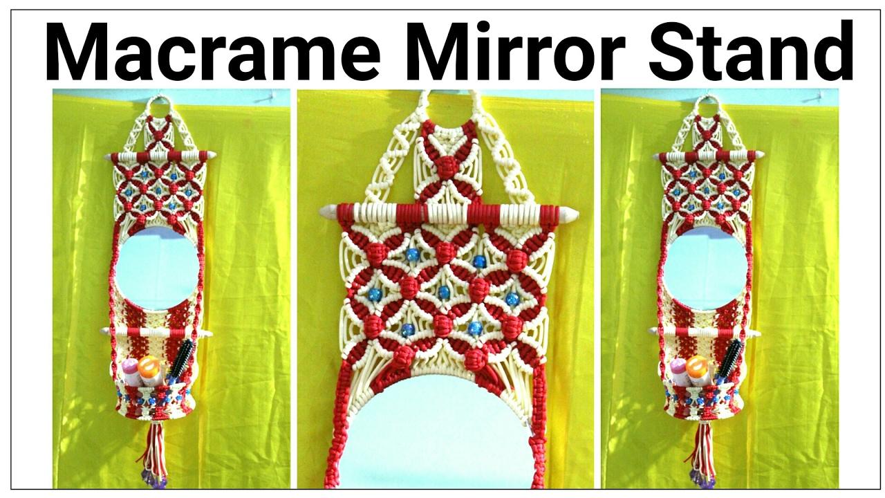 Amazing DIY of Macrame mirror wall hanging watch full video HD ...