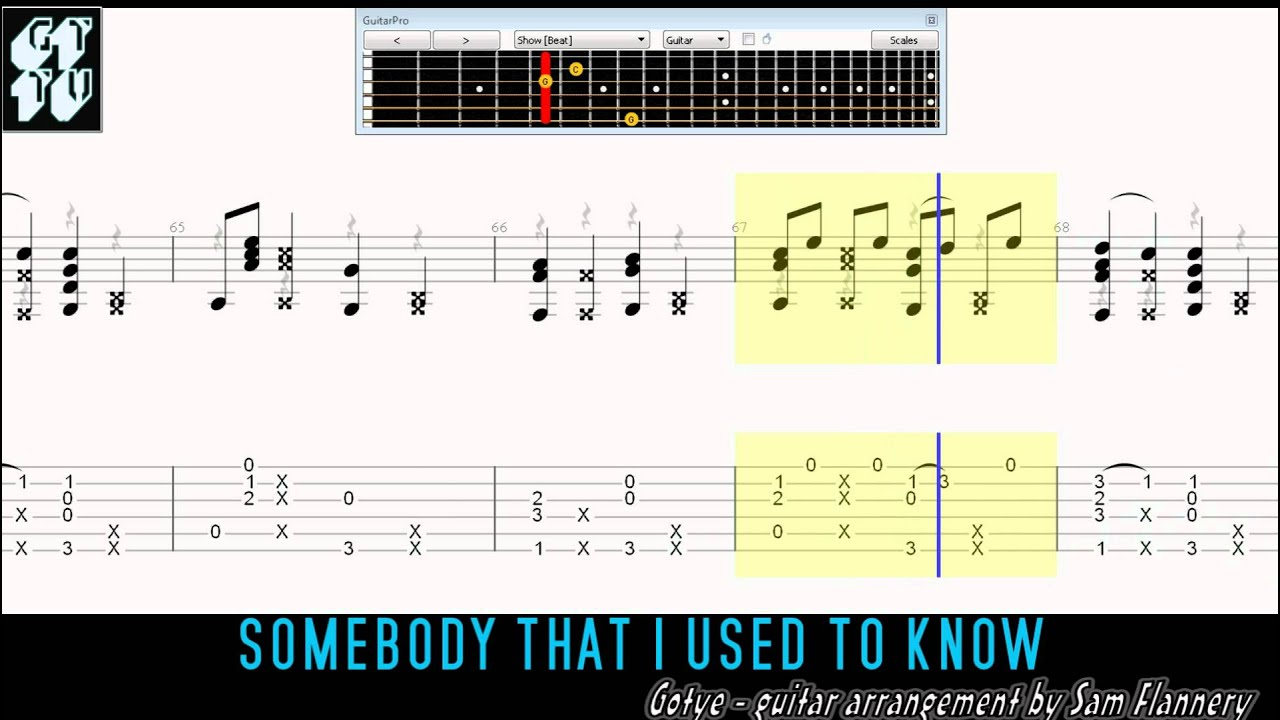 Somebody That I Used To Know Gotye Fingerstyle Acoustic