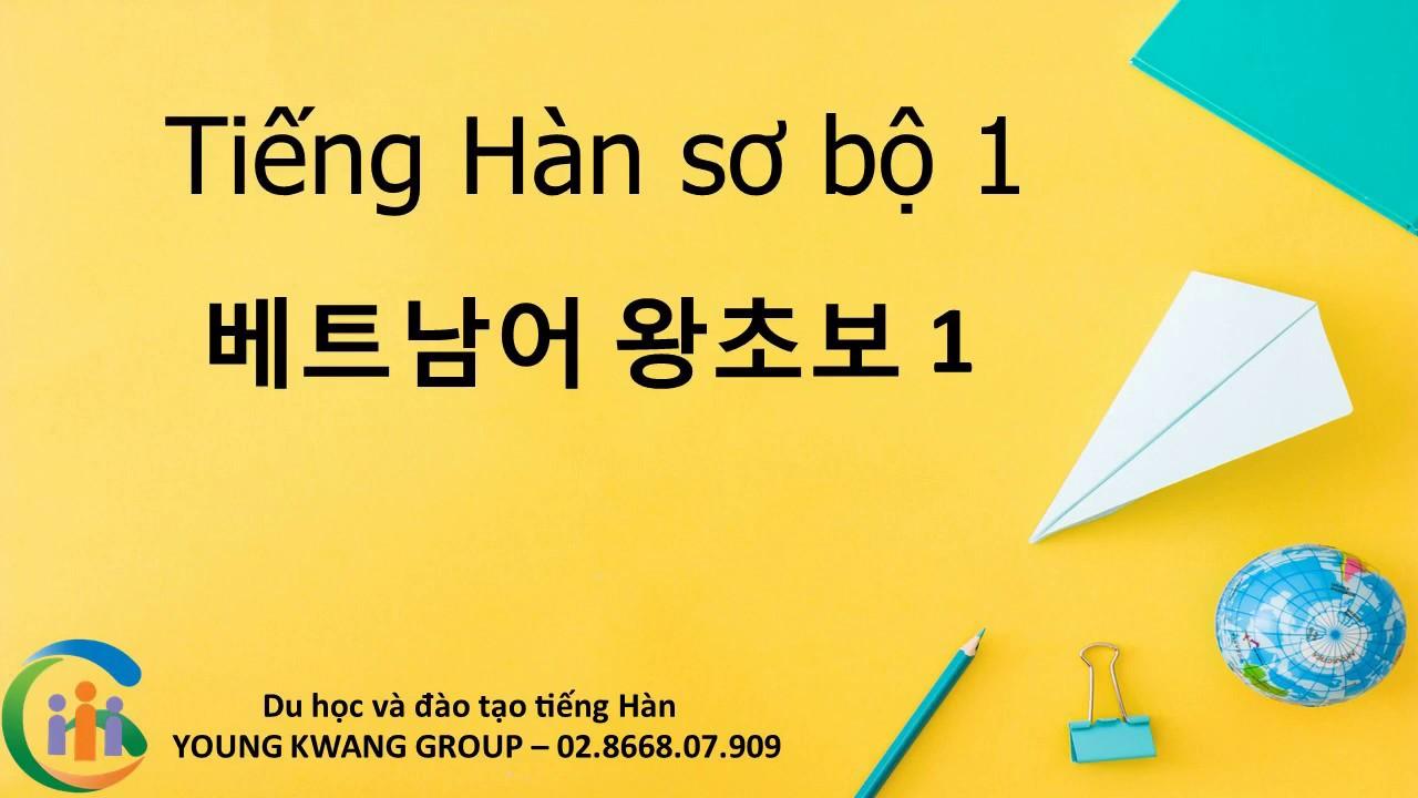[HỌC TIẾNG HÀN] Tiếng Hàn sơ cấp (P1)-베트남어 왕초보 제1부