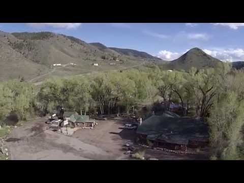 Drone over Woodslanding Wyoming