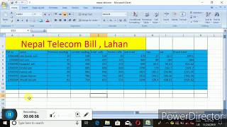 This video is a nepal telecome billing system how to use in excel learn the basics of using microsoft including anatom...