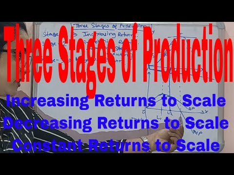 Three Stages Of Production In Economics|Increasing Return To Scale|Decreasing Return|Constant Return