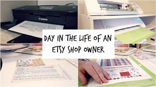 Day In The Life of An Etsy Shop Owner | Behind the Scenes of My Sticker Shop | Rachel Denise