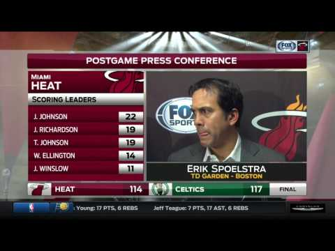 Erik Spoelstra -- Miami Heat at Boston Celtics 12/30/2016