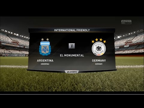 FIFA 18   ARGENTINA vs GERMANY   FULL MATCH   GAMEPLAY 1   1080p   PROFESSIONAL MODE  