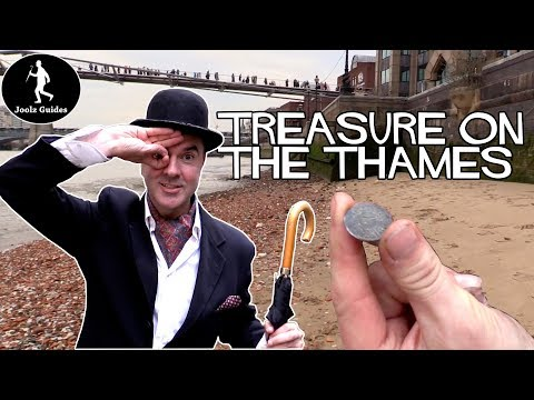 Mudlarking For Treasure Along The River Thames in London