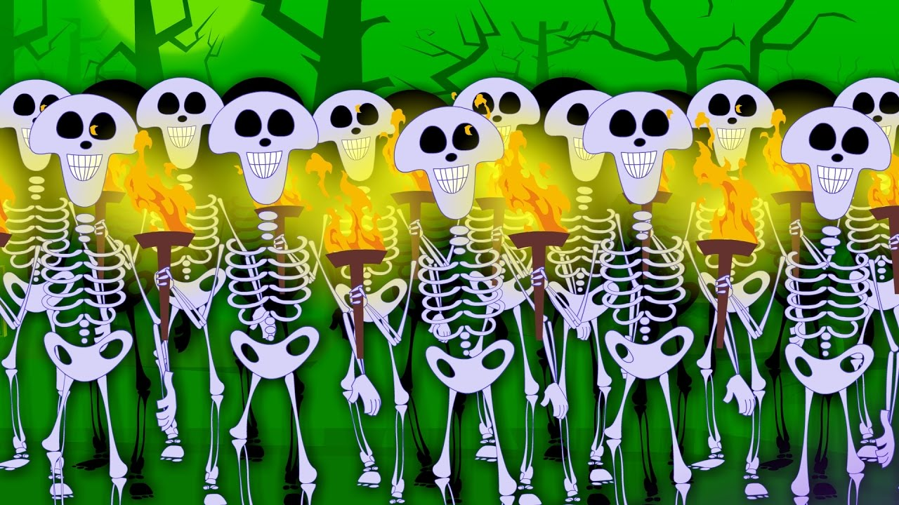 skeletons march scary nursery rhymes for children happy